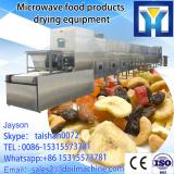 Tunnel type microwave drying and roasting machine for peanuts