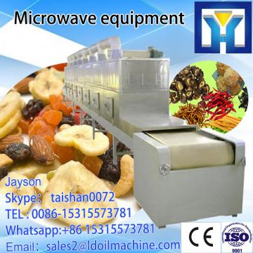 Tunnel conveyor belt type microwave heating oven