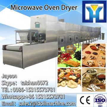 Industrial tunnel type microwave dryer and sterilizer machine for gelatin