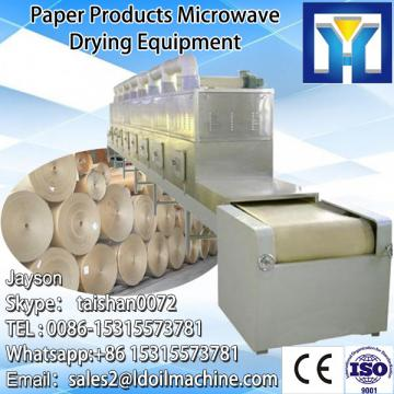 Tunnel microwave drying and sterilizing oven for grain